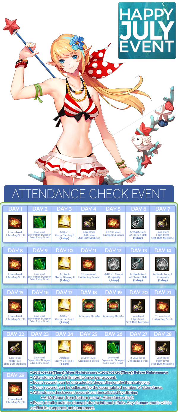 Happy July Event