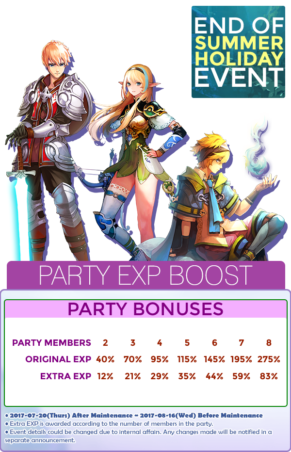 End of Summer Holiday Event