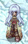 Costume Flowing Long Silver Sprite
