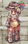 Costume Feather Fedora Sprite