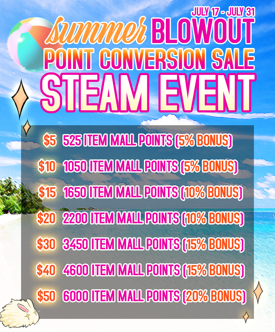 Steam point sale